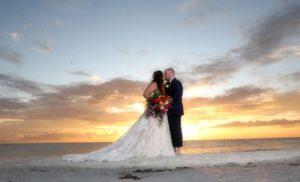 Sunset beach weddings in Florida