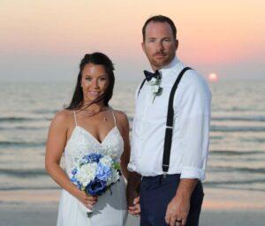 sunset beach destination wedding