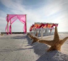 Florida beach weddings - aisle style by Suncoast Weddings