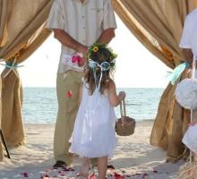 burlap themed wedding