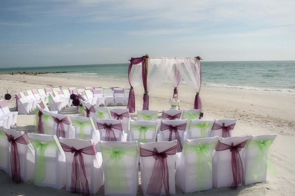 Florida beach wedding chairssuncoast weddings for Beach wedding photos