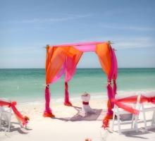 Florida beach wedding arches