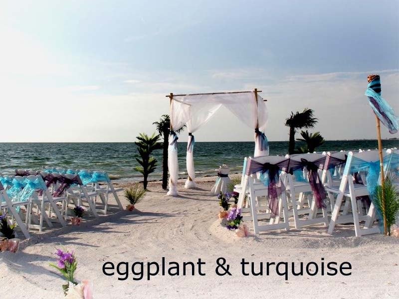 Florida beach wedding themes and colors