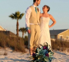 Florida beach wedding flowers, bouquets, fresh petals, decor