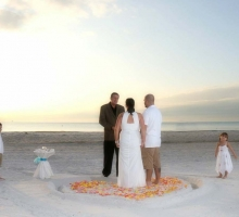 st pete beach gulf beach ceremony