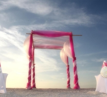 Florida beach wedding themes - pink perfection