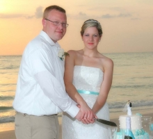 Florida beach wedding receptions on the beach