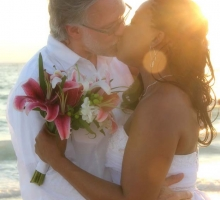 Florida beach wedding themes - Stargazer Lilies