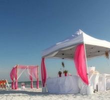 sun and sand reception tent
