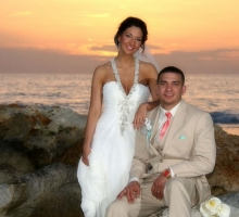 Sunset beach weddings on Treasure Island, Florida