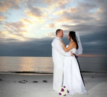 Sunset beach weddings on Treasure Island, Florida