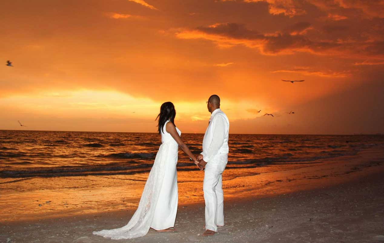 Sunset Beach Weddings On Treasure Island Florida