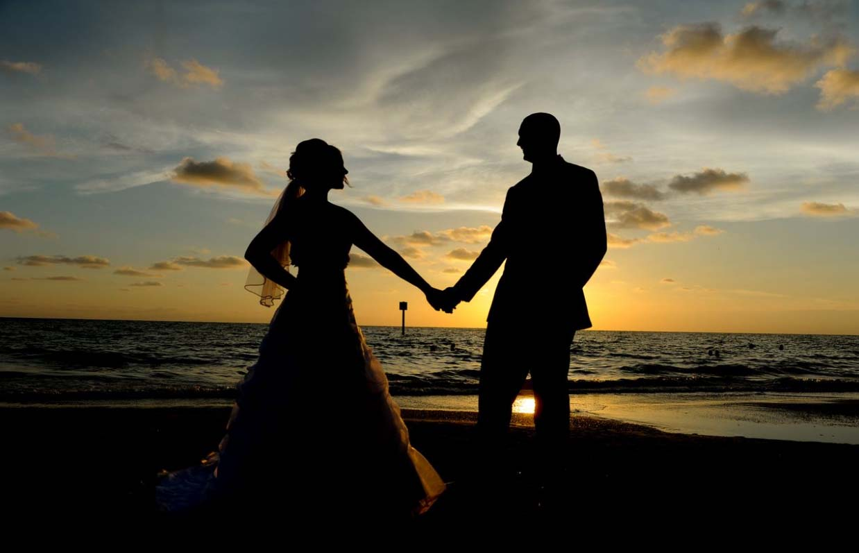 Florida sunset wedding