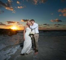 Florida sunset wedding