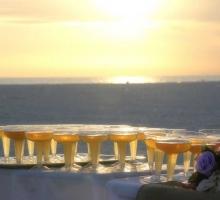 Florida beach wedding on a Gulf beach at sunset