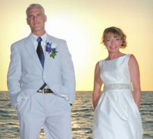 Florida beach wedding at sunset