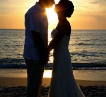 Florida beach wedding photography - sunset magic