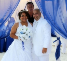 Affordable Florida beach wedding themes - a symphony in blue presented by Suncoast Weddings