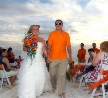 Florida beach wedding themes - Suncoast Weddings 'tangerine dream'